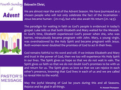 Pastor's Message - 44 Fourth Sunday of A
