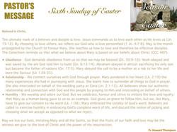 Pastor's Message - 163 Sixth Sunday of E