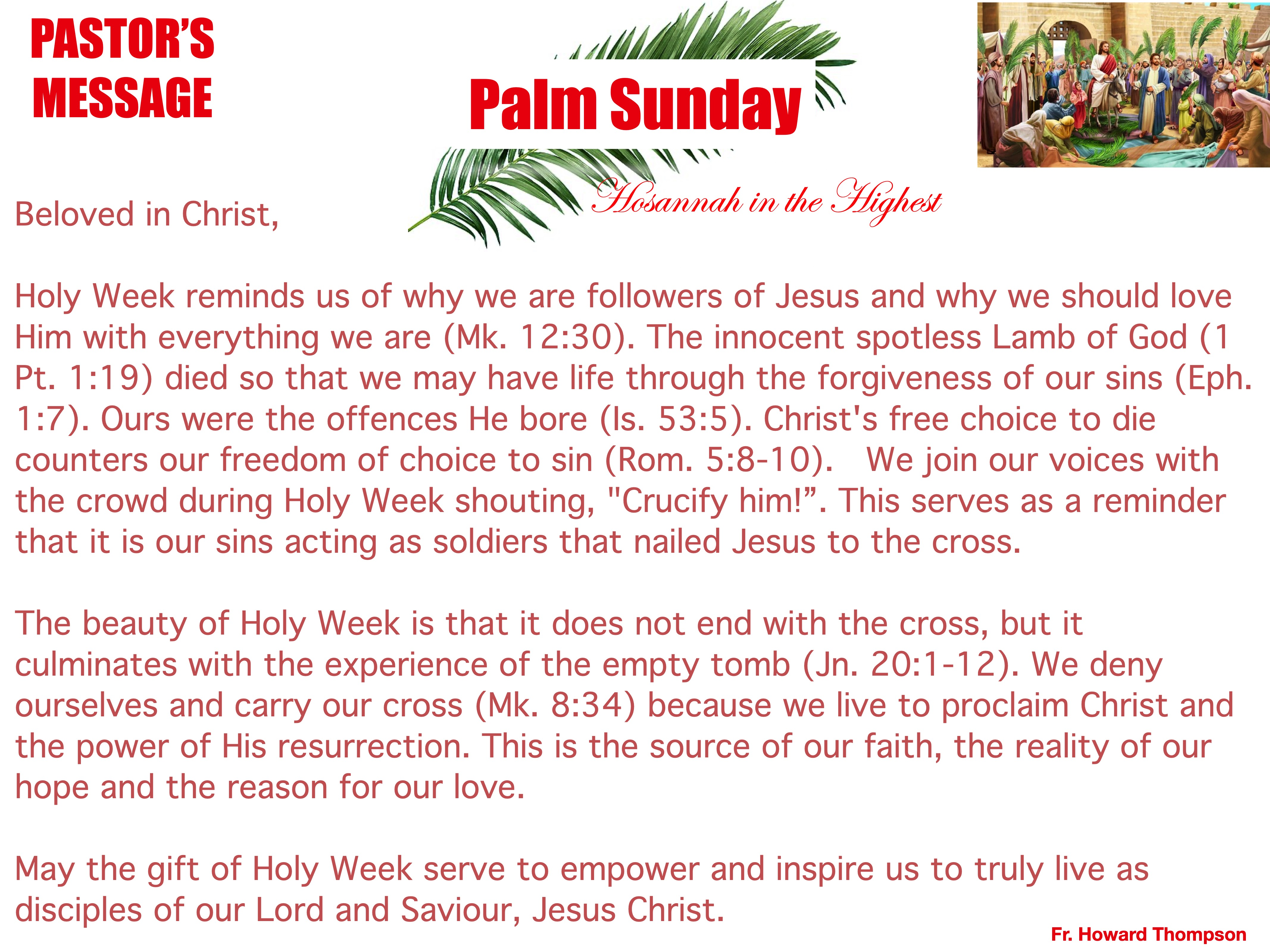 Pastor's Message - 157 Palm Sunday_001