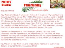 Pastor's Message - 157 Palm Sunday_001