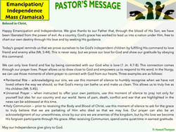 Pastor's Message - Emancipation_Independ