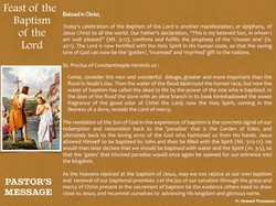 Pastor's Message - 95 The Baptism of the