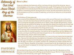 Pastor's Message - 88 The Solemnity of O