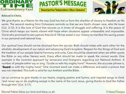Pastor's Message - 27 Emancipation_Indep