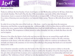 Pastor's Message - 06 First Sunday of Lent_001