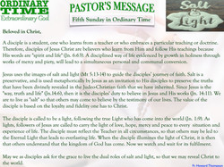 Pastor's Message - 05 Sunday in Ordinary Time
