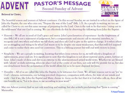 Pastor's Message - 02 Sunday of Advent_000001