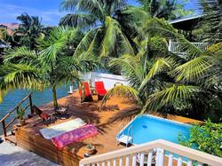 Refreshing pool and huge deck