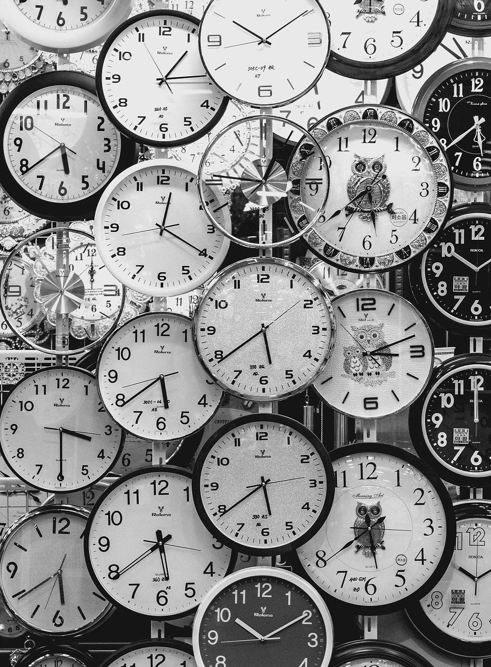 stopwatches, clocks, time