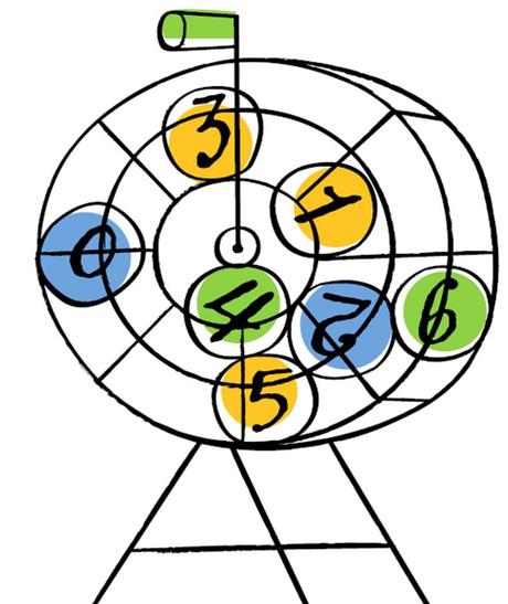 lotto balls, bingo cage