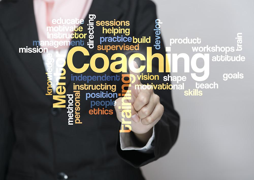 coaching words, touch screen