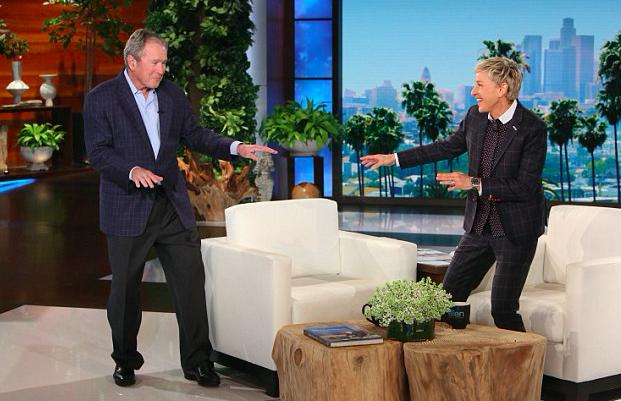 Ellen and President Bush