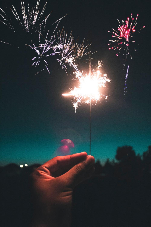 sparkler, fireworks, new years