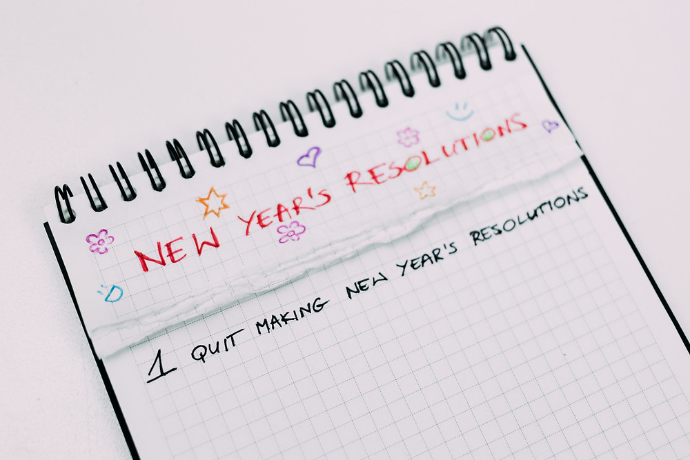 new years resolution, notebook