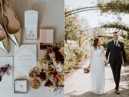 #WeddingWednesday: Astrid & Wesley: 'Dankzij COVID-19 kreeg ik mijn zin: een klein en intiem feest