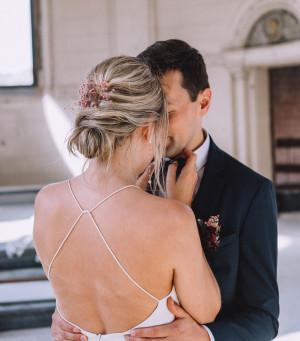 #WeddingWednesday: Bo & Matthias: 'Mijn jurk kostte een bom geld.