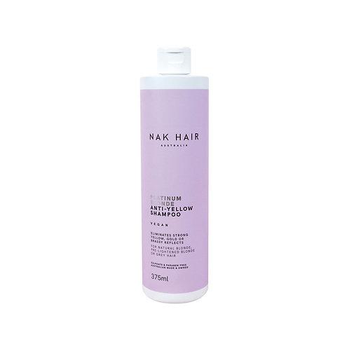 NAK HAIR Platinum Blonde Anti-Yellow Shampoo strong