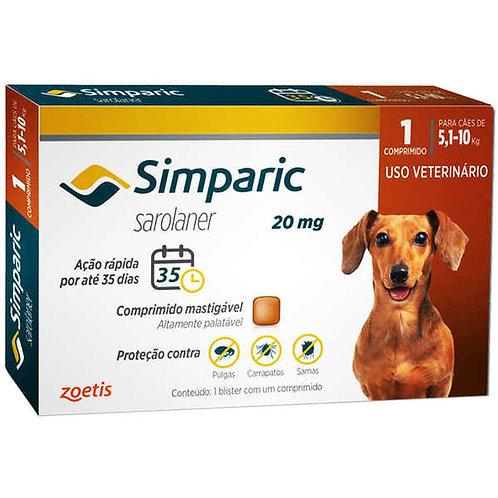 Anti Pulgas Simparic 20mg para Cães  5,1-10Kg