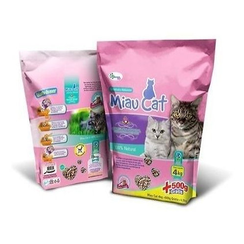Areia Granulada Miau Cat 4 kg+500g