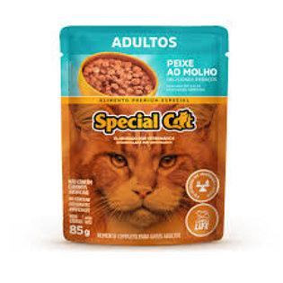 Ração Úmida Sachê Special Cat Peixe pra Gatos Adultos
