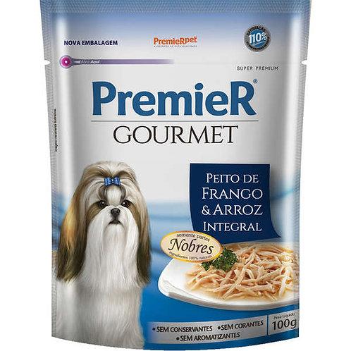 Ração Úmida Sachê Premier Gourmet Frango e Arroz para Cães