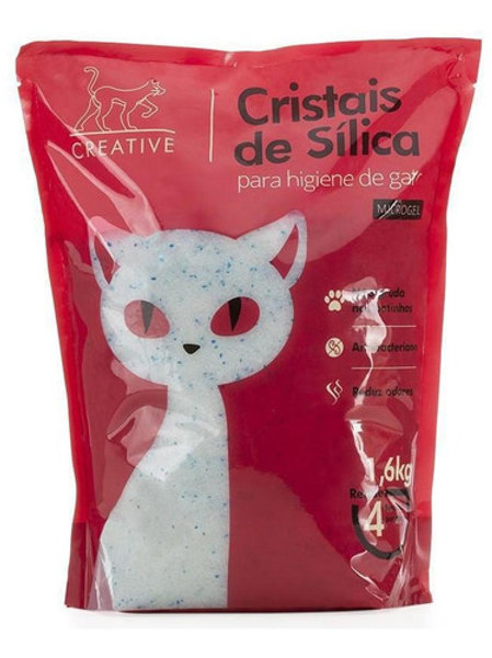 Areia Sílica Para Higiene de Gatos Microgel