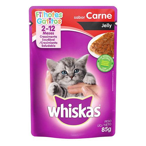 Ração Úmida Whiskas Sachê Carne para Gatos Filhotes
