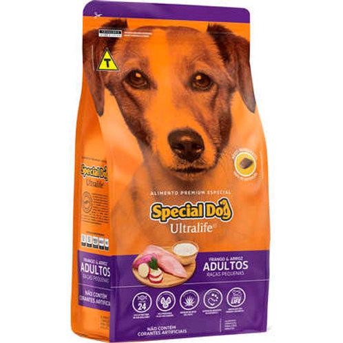 Rção Special Dog Ultralife Frango e Arroz para cães Adulto Raçãs Pequenas