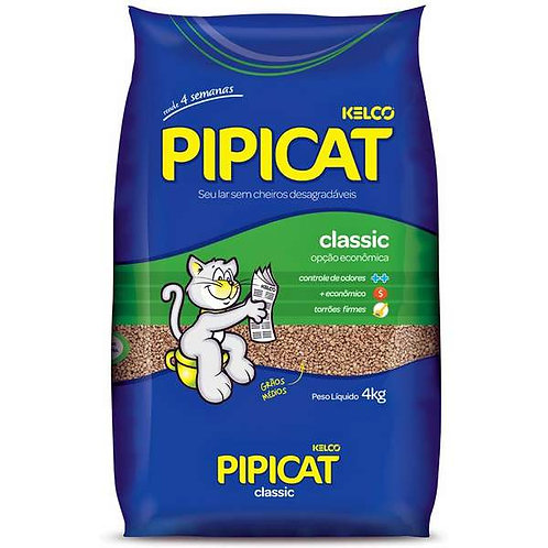 Areia Higiênica PipCat Classic 4KG