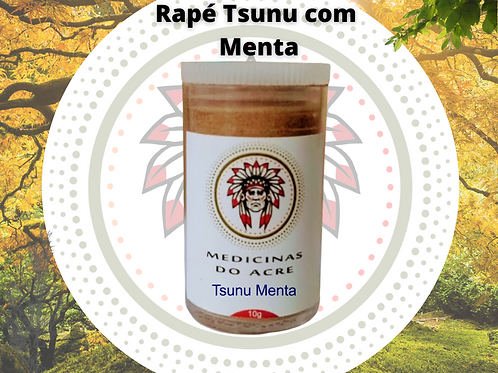 Rapé Tsunu Menta 10g + Brindes: 1 Mini Rapé 2g (Diversos) + Kuripe Bio