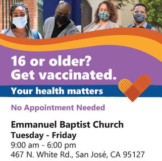 COVID Vaccinations At Emmanuel