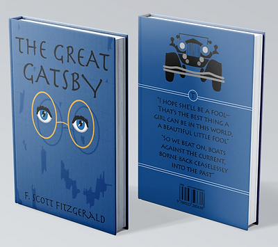 Great Gatsby Book Cover 3D