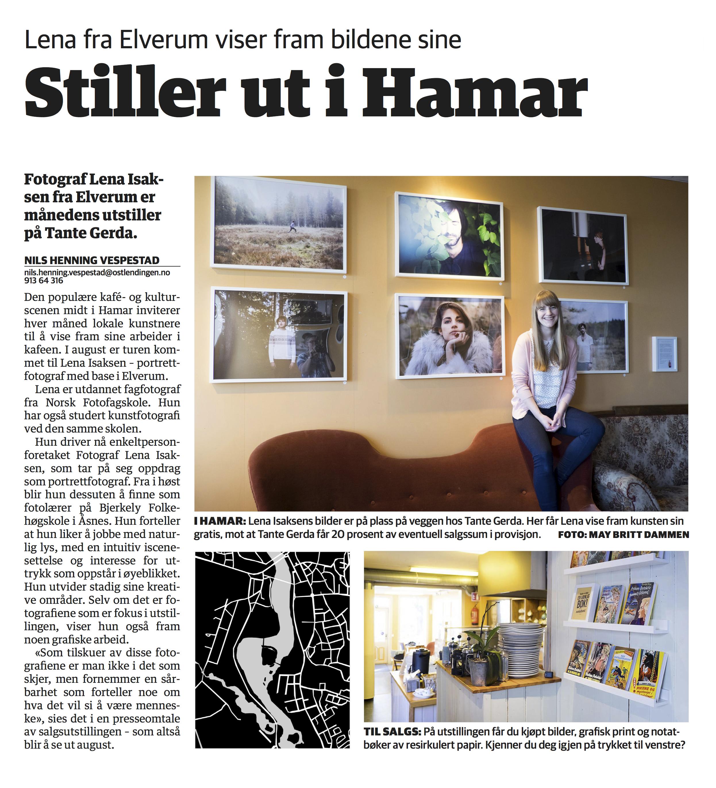 Lena Isaksen stiller ut i Hamar