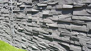 stone sleeper retaining wall