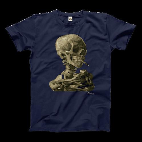 Van Gogh Skull of a Skeleton With Burning Cigarette 1886 T-Shirt