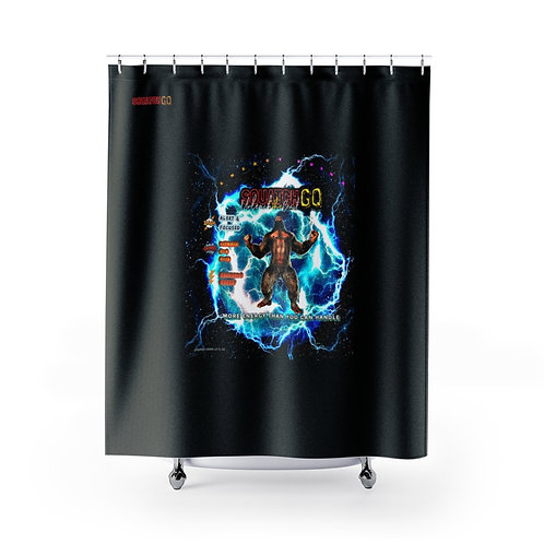 Squatch GQ Energy Drink Shower Curtains