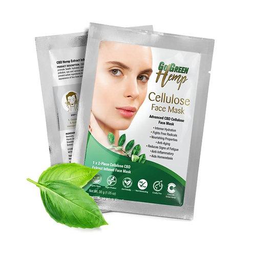 GoGreen Hemp Cellulose CBD Face Mask