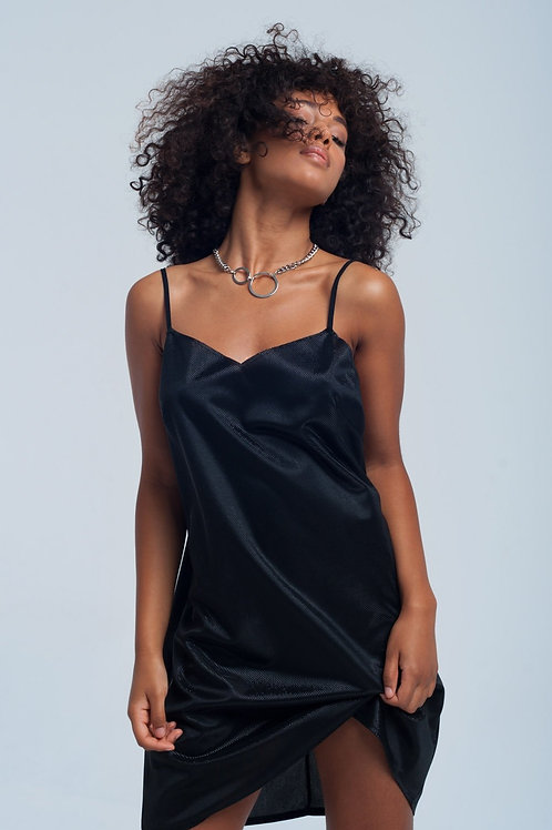 Black Shiny Dress