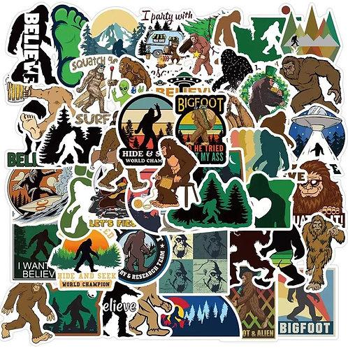Bigfoot -Yeti Stickers