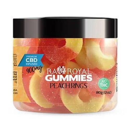 RA Royal CBD - CBD Edible - Peach Ring Gummies - 300mg-1200mg