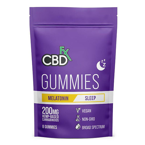 CBDfx - CBD Edible - Broad Spectrum Melatonin Sleep Gummies - 25mg
