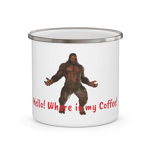 Squatch GQ Enamel Camping Mug