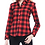 Thumbnail: Cemizo Long Sleeve Flannel Shirt - Red
