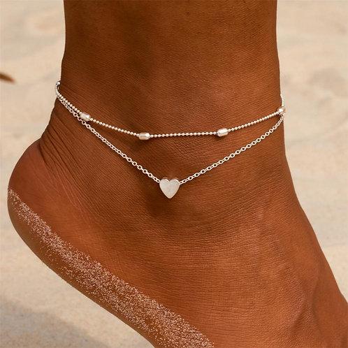 Simple Heart Anklet Ankle Bracelet