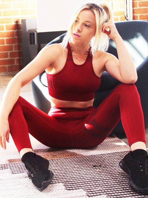 Ashton Set - Sports Bra & Leggings - Maroon