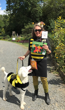 Becky Halbe  and Dudley pollinator costume