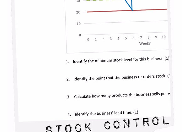 Topic resources: Stock control