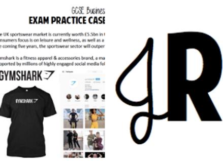 GCSE Casestudy & exam questions - Gymshark