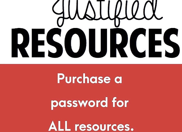 Subscription password for Justified Resources