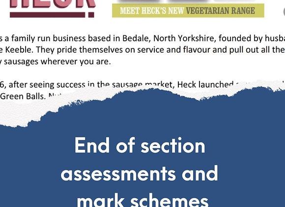 GCSE Edexcel Theme 1 - End of section assessments